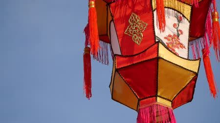 ano novo chinês : Chinese lanterns - Chinese New Year Stock Footage
