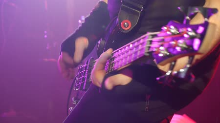 жить : guitar solo - rock band - live concert - closeup shot
