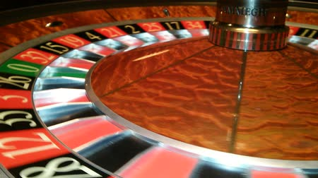 ruleta : ruleta del casino en el movimiento Archivo de Video