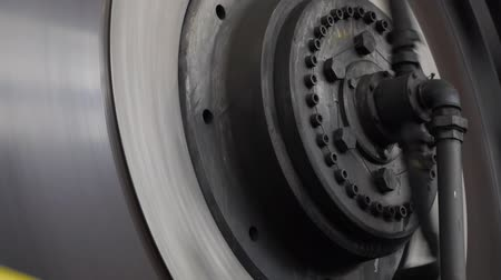 locksmith : heavy industry hydraulic press rotor press Stock Footage