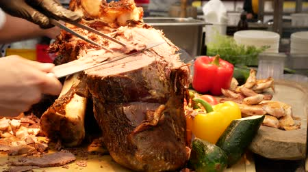 rump : Sirloin Beef Roast, traditional cooking at the restaurant.