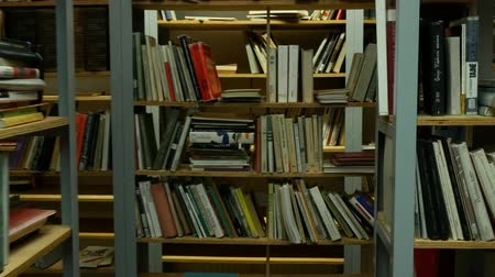 gramotnost : Shelf with books - You are lost in the library
