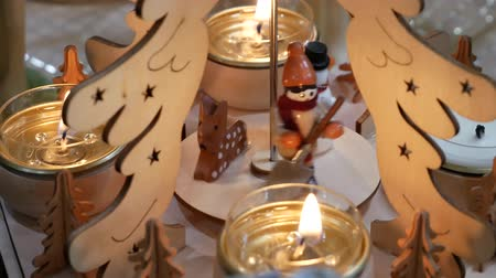 Christmas figures with candles