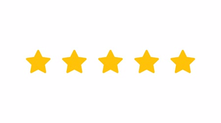 png : Rating Five Stars. Motion Graphics. Transparent Background. Stock Footage