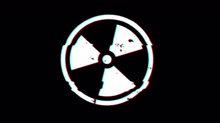 bio hazardous : Oncoming. Radiation Biohazard Death Quarantine. Set Signs. Black Background. Motion Graphics.