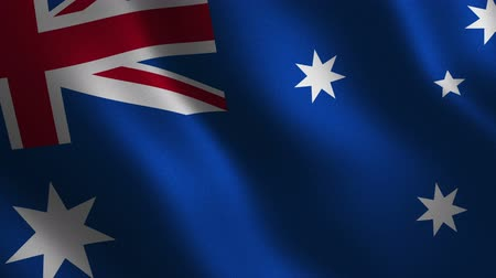 patriótico : Australia flag waving 3d. Abstract background. Loop animation. Motion graphics