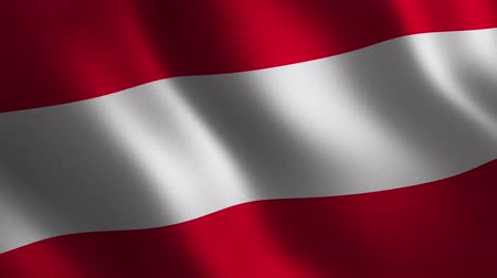 Austria flag waving 3d. Abstract background. Loop animation. Motion graphics