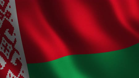 Belarus flag waving 3d. Abstract background. Loop animation. Motion graphics
