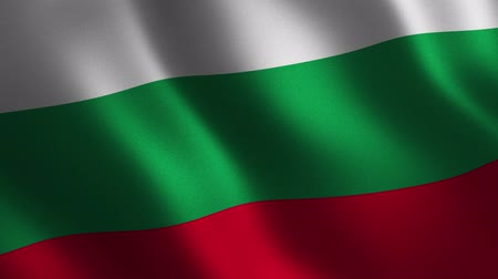 Bulgaria flag waving 3d. Abstract background. Loop animation. Motion graphics Stok Video