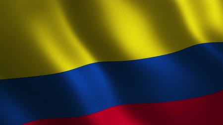 Colombia flag waving 3d. Abstract background. Loop animation. Motion graphics
