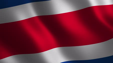Costa Rica flag waving 3d. Abstract background. Loop animation. Motion graphics Stok Video