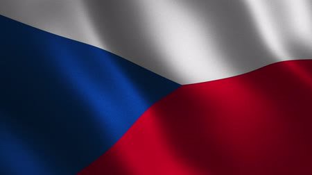 Czech Republic flag waving 3d. Abstract background. Loop animation. Motion graphics