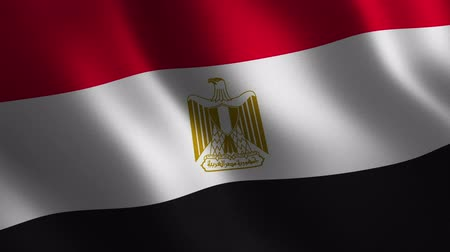 Egypt flag waving 3d. Abstract background. Loop animation. Motion graphics