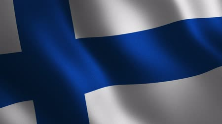 Finland flag waving 3d. Abstract background. Loop animation. Motion graphics