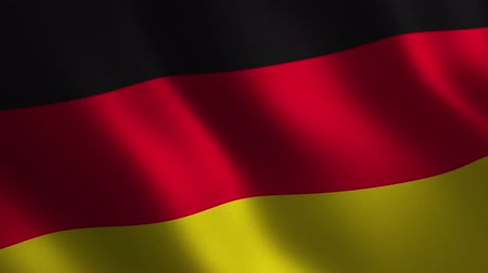 Germany flag waving 3d. Abstract background. Loop animation. Motion graphics Stok Video