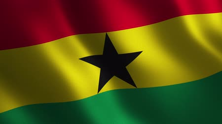 Ghana flag waving 3d. Abstract background. Loop animation. Motion graphics