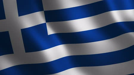 Greece flag waving 3d. Abstract background. Loop animation. Motion graphics