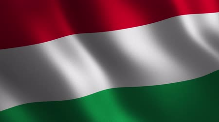 Hungary flag waving 3d. Abstract background. Loop animation. Motion graphics