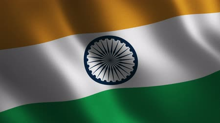 India flag waving 3d. Abstract background. Loop animation. Motion graphics