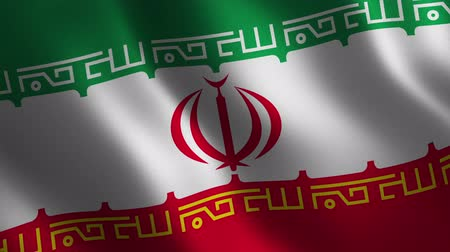 Iran flag waving 3d. Abstract background. Loop animation. Motion graphics