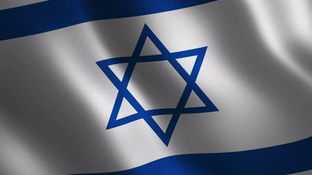 Israel flag waving 3d. Abstract background. Loop animation. Motion graphics Stok Video