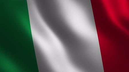 Italy flag waving 3d. Abstract background. Loop animation. Motion graphics