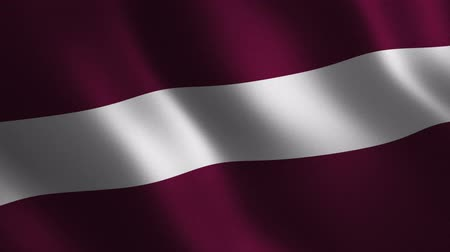 Latvia flag waving 3d. Abstract background. Loop animation. Motion graphics