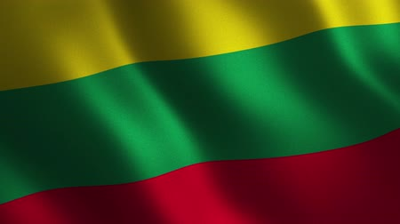 Lithuania flag waving 3d. Abstract background. Loop animation. Motion graphics