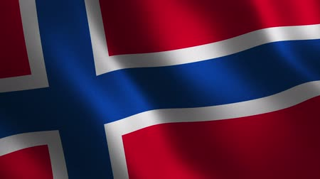 Norway flag waving 3d. Abstract background. Loop animation. Motion graphics Stok Video