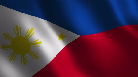 Philippines flag waving 3d. Abstract background. Loop animation. Motion graphics