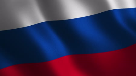 Russia flag waving 3d. Abstract background. Loop animation. Motion graphics