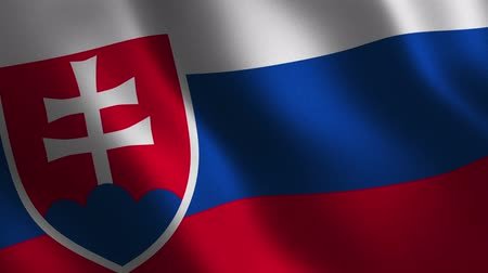 Slovakia flag waving 3d. Abstract background. Loop animation. Motion graphics