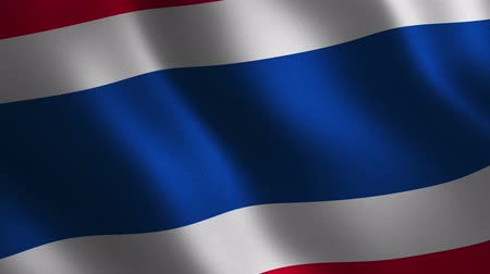Thailand flag waving 3d. Abstract background. Loop animation. Motion graphics