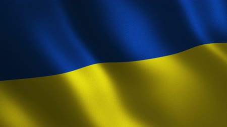 Ukraine flag waving 3d. Abstract background. Loop animation. Motion graphics