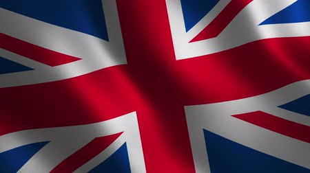 United Kingdom flag waving 3d. Abstract background. Loop animation. Motion graphics