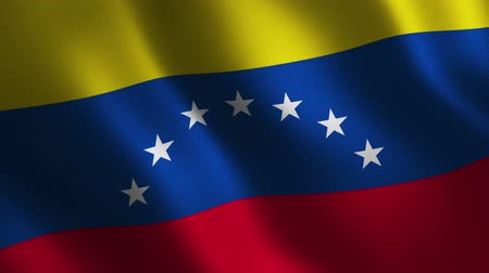 Venezuela flag waving 3d. Abstract background. Loop animation. Motion graphics