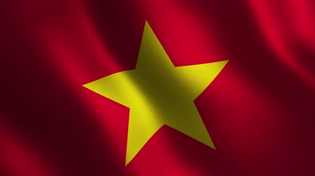Vietnam flag waving 3d. Abstract background. Loop animation. Motion graphics