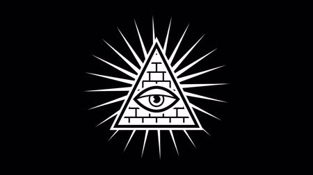 masonic : Appearance. All seeing eye. Sign Masons. Black background. Alpha channel. Motion graphics