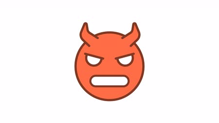 Emoticon evil demon. Animated Emoticons. Alpha channel. Looping starts from 2s