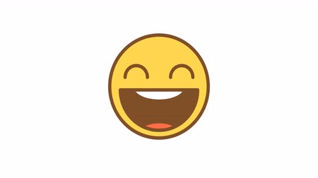 マスコット : Emoticon laughs out loud. Animated Emoticons. Alpha channel. Looping starts from 2s