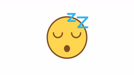 Emoticon sleeping. Animated Emoticons. Alpha channel. Looping starts from 2s Dostupné videozáznamy