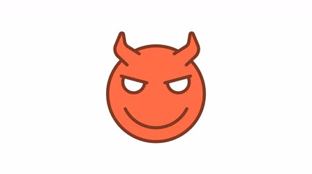 emoticon : Emoticon sly demon smiles. Animated Emoticons. Alpha channel. Looping starts from 2s