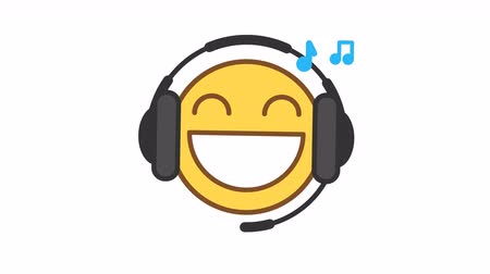 Emoticon listens music on headphones option 3. Animated Emoticons. Alpha channel. Looping starts from 2s