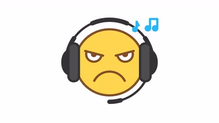 Emoticon listens music on headphones option 4. Animated Emoticons. Alpha channel. Looping starts from 2s