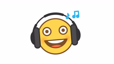 Emoticon listens music on headphones option 5. Animated Emoticons. Alpha channel. Looping starts from 2s Dostupné videozáznamy