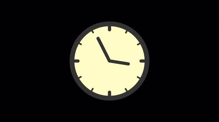 pictograma : Business icons clock. Animation icons. Transparent background. Loop animation. Motion graphics