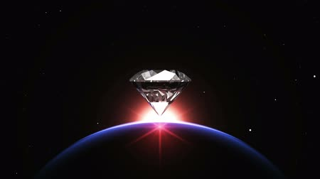 rombusz : planet and diamond Stock mozgókép