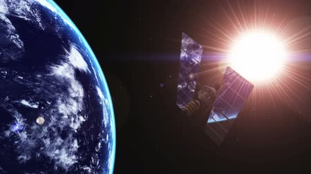 manmade : Man-made satellite and earth