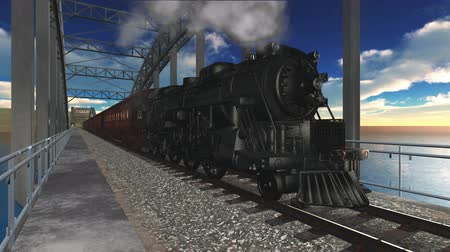 lokomotif : steam locomotive Stok Video