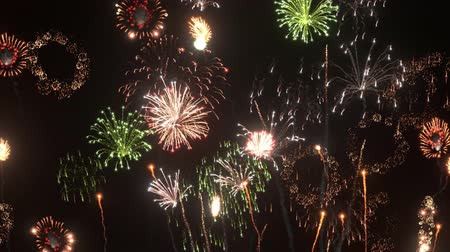 dizayn : 3D CG rendering of fireworks Stok Video